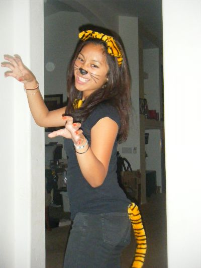 chelsey as a cute tiger for halloween 08 - Tiger For Halloween